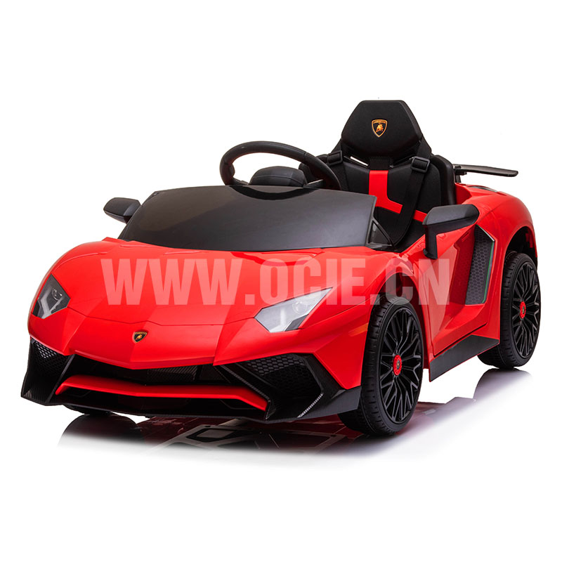 RECHARGEABLE CAR W/ RC LICENSE LAMBORGINI AVENTADO